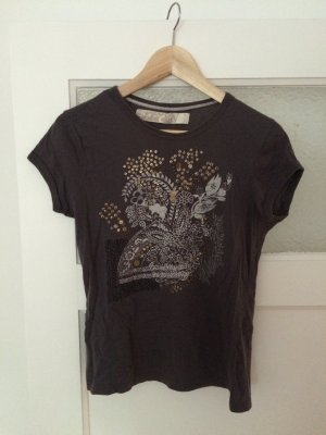 Zara T-shirt gris foncé-gris anthracite
