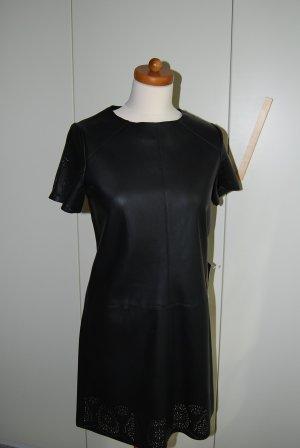 süßes Fake Lederkleid in Gr. M - 36/38 von Zara in schwarz mit Lochmuster - neu! NP 39,95