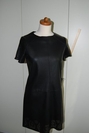 Zara Robe courte noir faux cuir