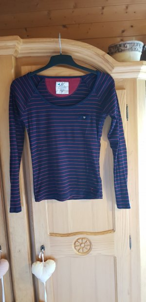 Campus Stripe Shirt dark blue-dark red