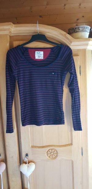 Campus Gestreept shirt donkerblauw-donkerrood