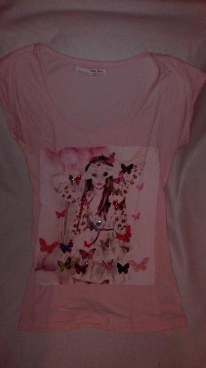 Süßes Girlie Shirt mit Schmetterlingsaufdruck
