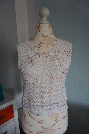 C&A Haut en crochet blanc