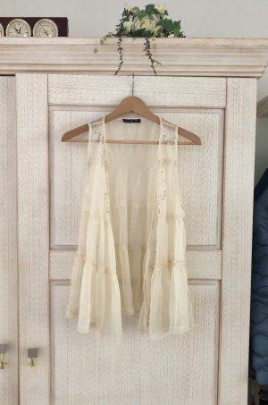 Atmosphere Haut à basque blanc cassé-crème polyester