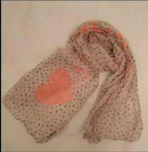 Süßes Halstuch, Schal, Tuch von Codello, NEU, grau, taupe, Sternchen, pink