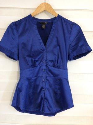 H&M Camisa de manga corta azul