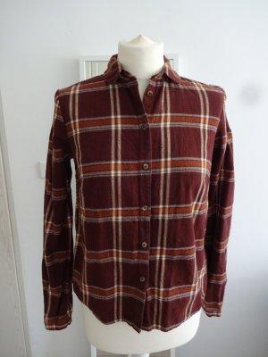 Clockhouse Camicia da boscaiolo marrone-rosso-cognac Cotone