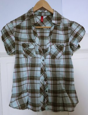 H&M Chemise à manches courtes multicolore coton