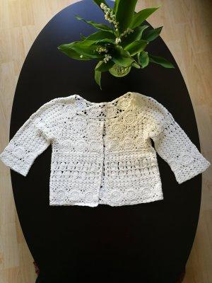 Mango Cardigan en crochet blanc