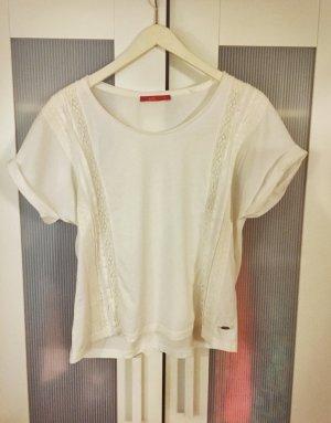 Süßes Hippieshirt mit Strickdetails, 100% Cotton / Baumwolle