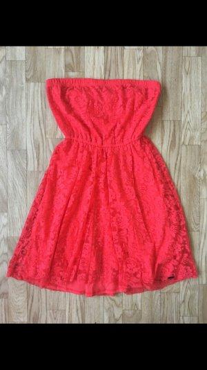 Süßes Hollister Sommerkleid, rot, Größe Xs, neuwertig, rote Spitze, Minikleid