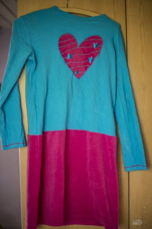 House-Frock neon blue-magenta