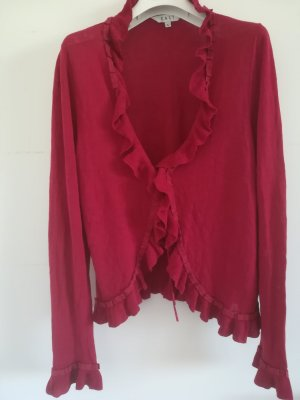 East Flounce Top red