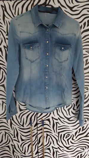 H&M Camicia denim blu acciaio