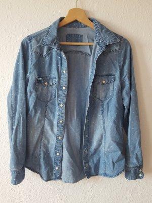 Denim Shirt cornflower blue-natural white