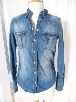 Süßes Jeanshemd von H&M coole Waschung eng 34 36 S