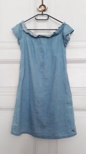 Süßes Jeanskleid, Minikleid, schulterfrei