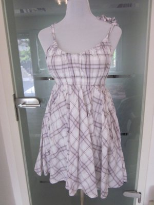 Süßes Karo Kleid Weiss Flieder Gr S