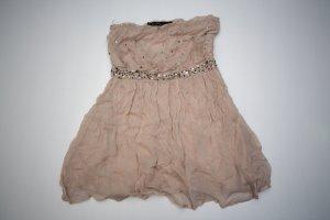 Süßes Kleid / Bandeaukleid von Zara rosa Gr. 36 / S mit Glitzersteinen
