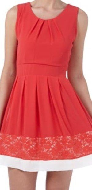 Apricot Off the shoulder jurk zalm-rood