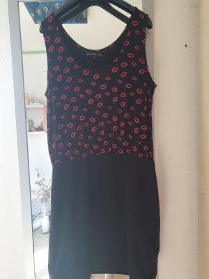 Even & Odd Vestido elástico negro-rojo
