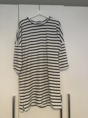 Monki Sweater Dress black-natural white