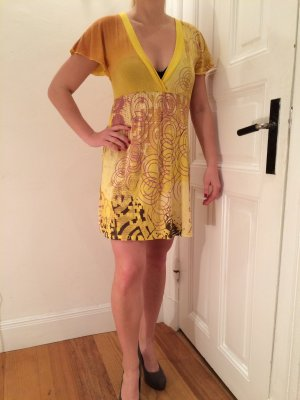 Babydoll Dress dark yellow cotton