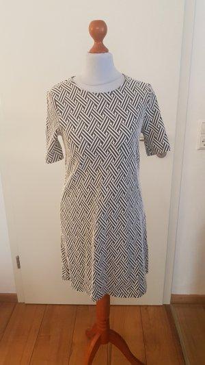 H&M Mini Dress white-dark blue