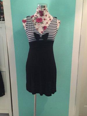Vestido azul oscuro-blanco