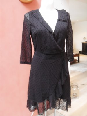 Vestido de encaje negro tejido mezclado