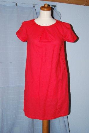 süßes Kleid Leinen von Mango in koralle Gr. S im Sixties Style