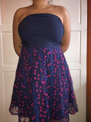 Orsay Off-The-Shoulder Dress dark blue-pink