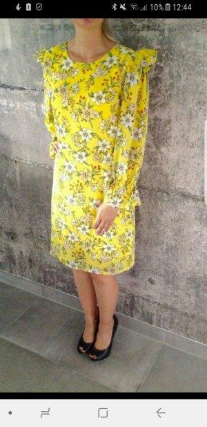 Süßes Kleid mit Blümchen, gr. XL (40 / 42), Vero Moda, gelb/ Orange/ grün/ weiß