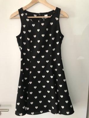 H&M Divided Mini-jurk wit-zwart