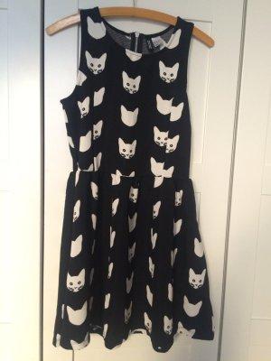 Süßes Kleid mit Katzen Cats black white