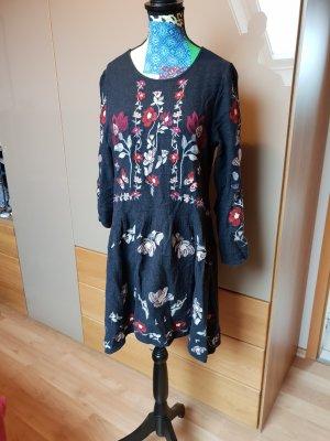 Zara Woman Abito a maniche lunghe multicolore