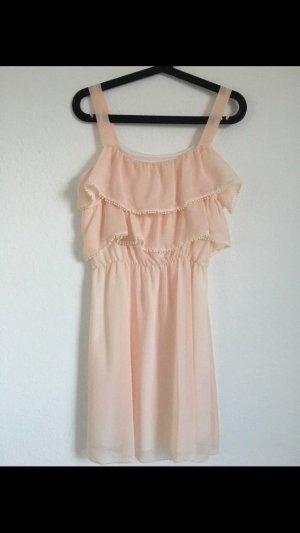Süßes Kleid mit Volants, rosa, ASOS