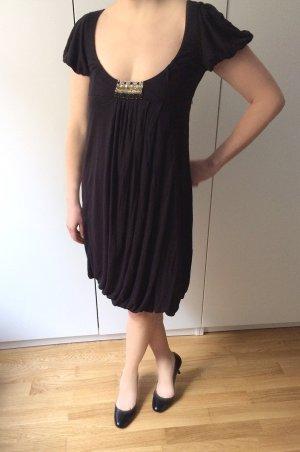 Süßes Kleid schwarz knielang, Empire / Babydoll