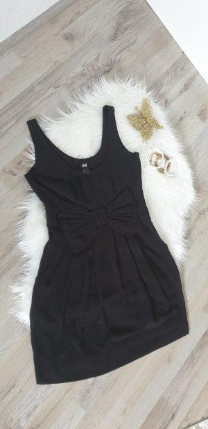 süßes Kleid / Sommerkleid mit Schleife, schwarz, Gr. 34