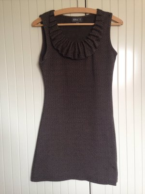 Apricot Mini vestido negro-marrón grisáceo Poliéster