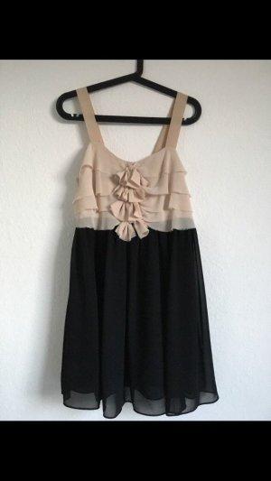 Süßes Kleid von H&M mit Verzierung, rosa, schwarz, Gr. 36