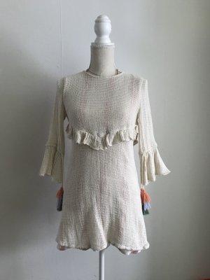 Zara Vestido crema-beige claro