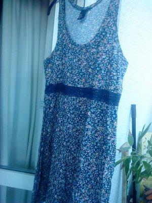 süßes Kleidchen dunkelblau mit Streublümchen S von HM