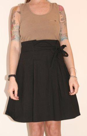 Vila Robe avec jupon noir-marron clair