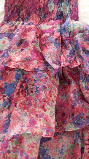 Zara Vestido tipo overol multicolor