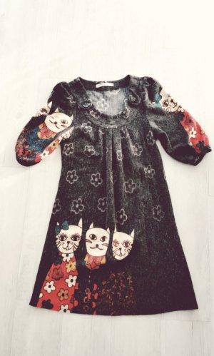 Süßes Kleidchen mit Katzen Print Retro Stil. Neu!