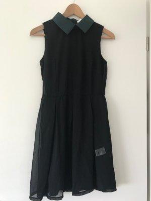 Vestido de chifón negro Poliéster