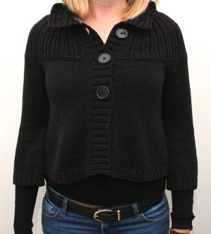 H&M Chaqueta de lana negro-azul oscuro