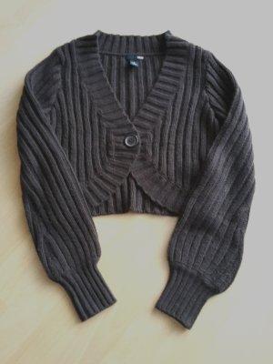 H&M Coarse Knitted Jacket brown-dark brown
