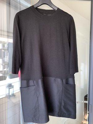 Süßes Langarm Kleid schwarz
